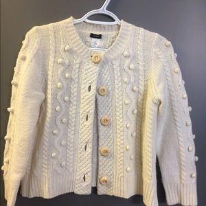 Cream colored jcrew cardigan wool/cashmere